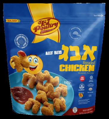 KJ Poultr Kosher Alef Beis Breaded Chicken (91274)