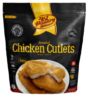 KJ Poultry Kosher Breaded Chicken Cutlets (91272)