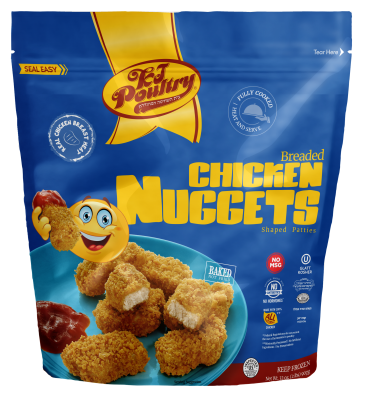 KJ Poultry Kosher Breaded Chicken Nuggets (91273)