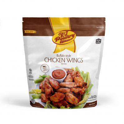 KJ Poultry Kosher Buffalo Chicken Wings - Hot & Spicey (452)