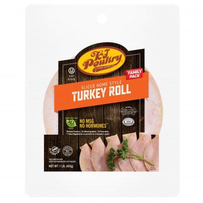 KJ Poultry Kosher Sliced Homestyle Turkey Roll Family Pack (11405)