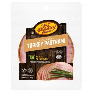 KJ Poultry Kosher Sliced Smoked Turkey Pastrami (11420)