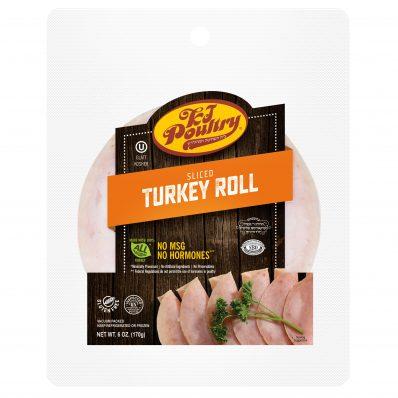 KJ Poultry Kosher Sliced Turkey Roll (11415)
