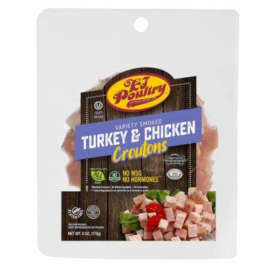 KJ Poultry Kosher Variety Turkey & Chicken Croutons (11449)