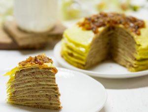 Liver Blintz Crepe Cake